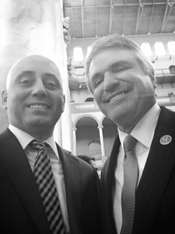 Bilal Eksili with Congressman Michael McCaul