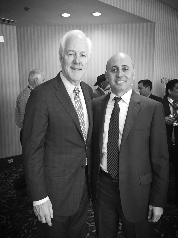 Bilal Eksili with Senator John Cornyn