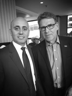 Bilal Eksili with Secretary of Energy Rick Perry