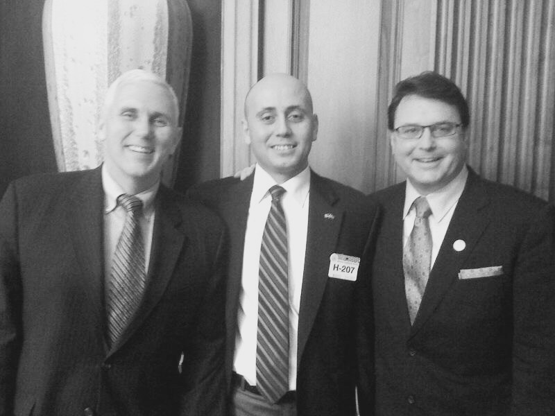 Bilal Eksili with Mike Pence & Todd Rokita