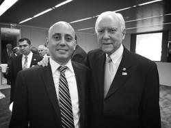 Bilal Eksili with Senator Orrin Hatch