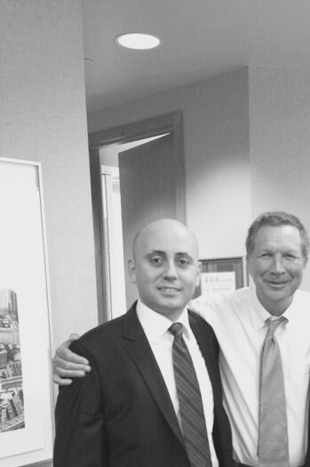 Bilal Eksili with OH Governor John Kasich