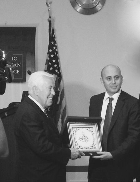 Bilal Eksili with Senator Richard Lugar