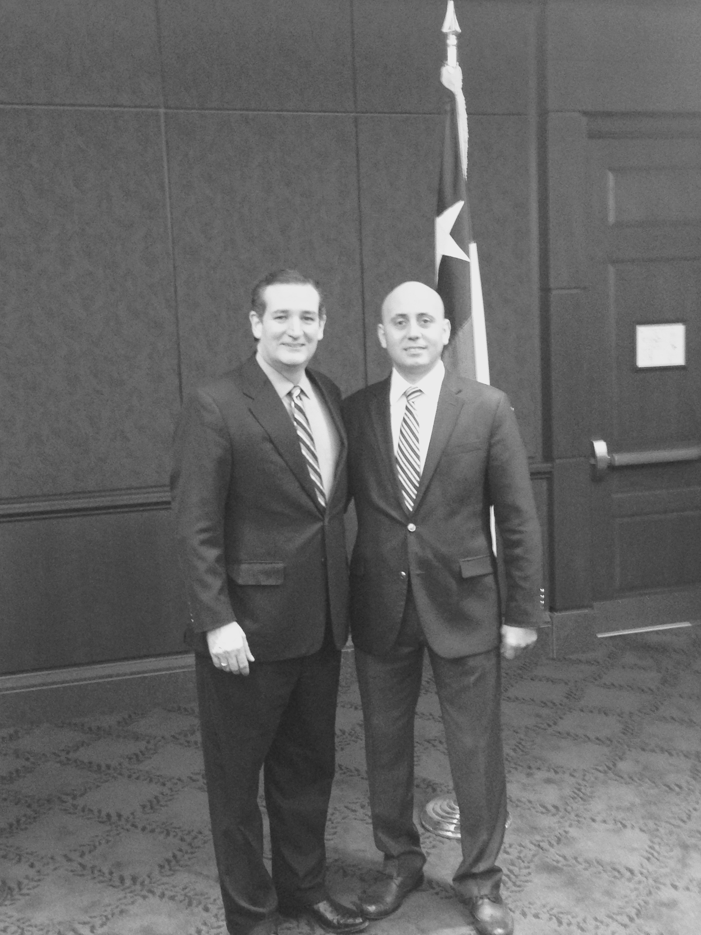Bilal Eksili with Senator Ted Cruz