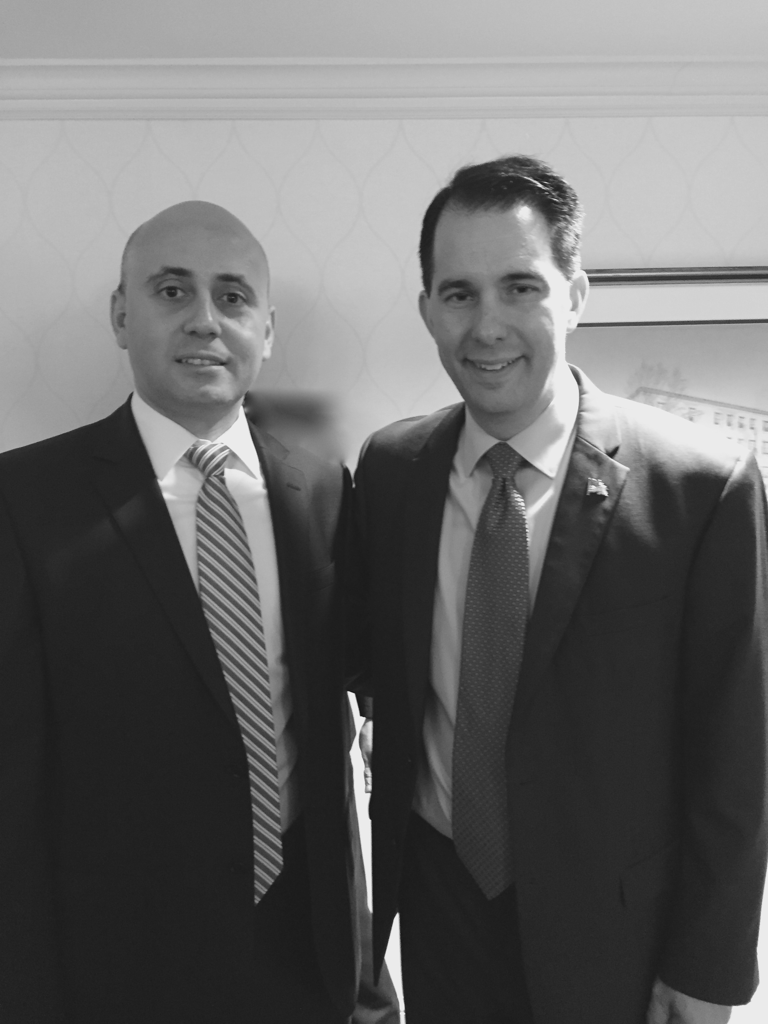 Bilal Eksili with WI Governor Scott Walker