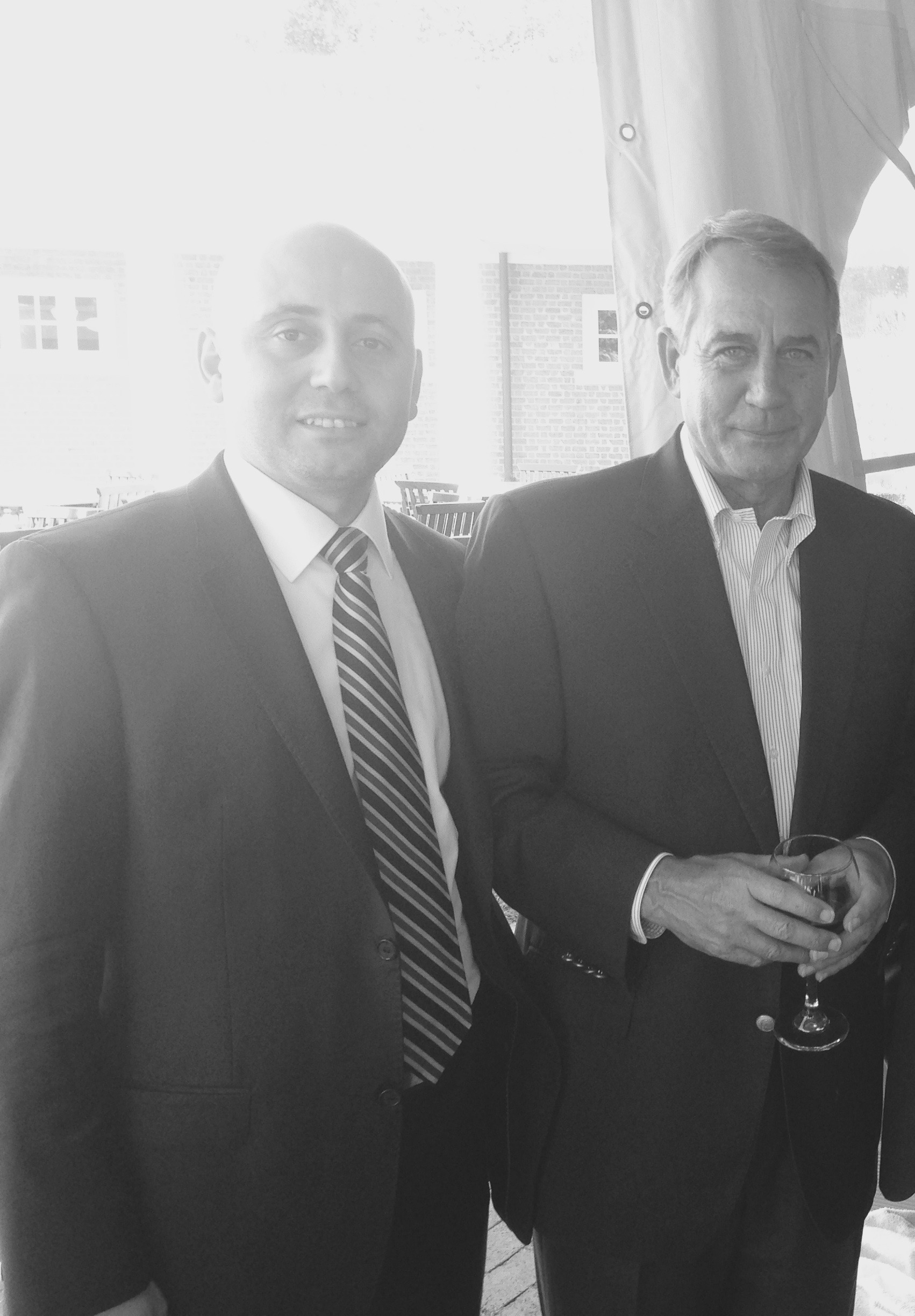 Bilal Eksili with Speaker John Boehner