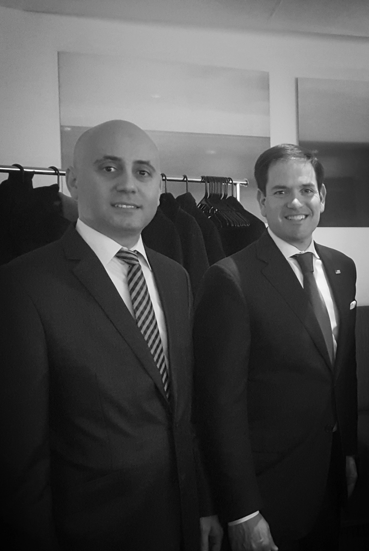 Bilal Eksili with Senator Marco Rubio