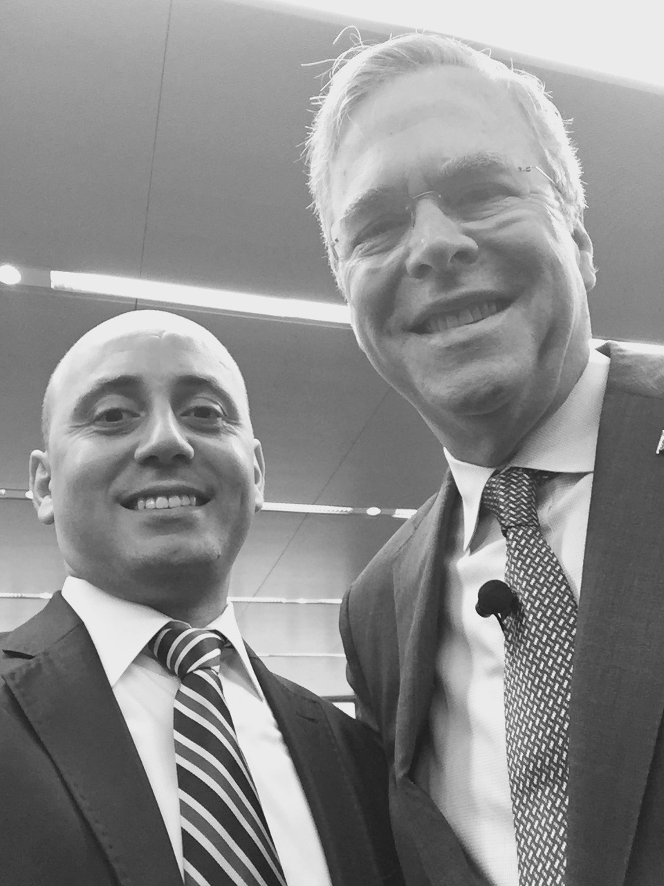 Bilal Eksili with Jeb Bush