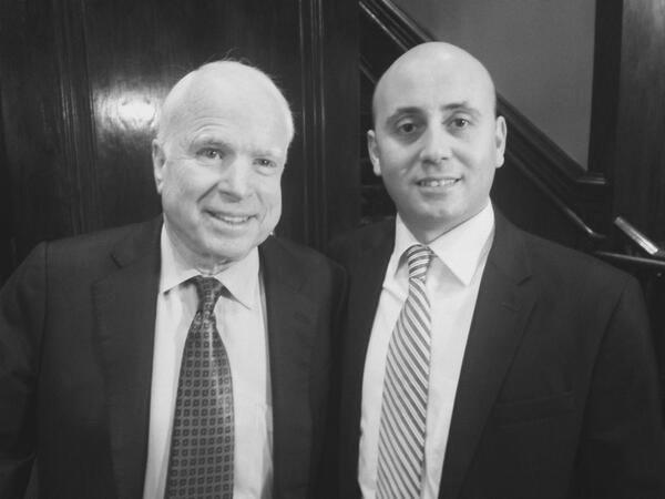 Bilal Eksili with Senator John McCain