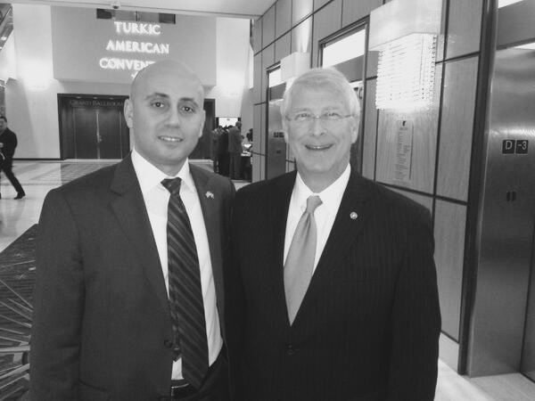 Bilal Eksili with Senator Roger Wicker