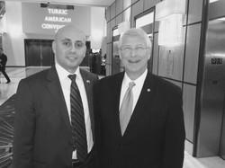 Bilal Eksili with Senator Roger Wicker