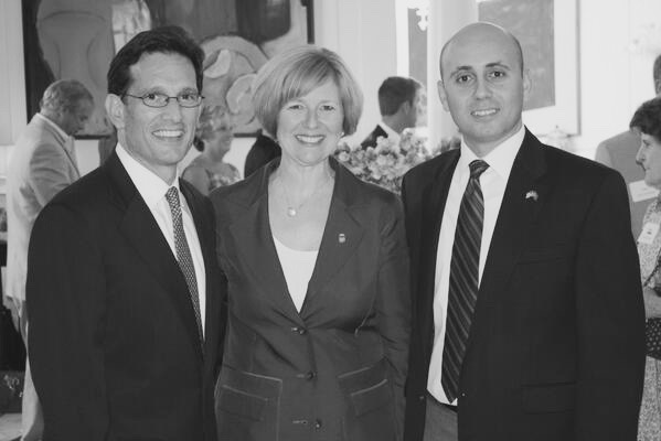 Bilal Eksili with Eric Cantor & Susan Brooks