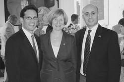 Bilal Eksili with Eric Cantor & Susan Brooks