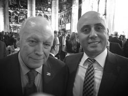 Bilal Eksili with VP Dick Cheney