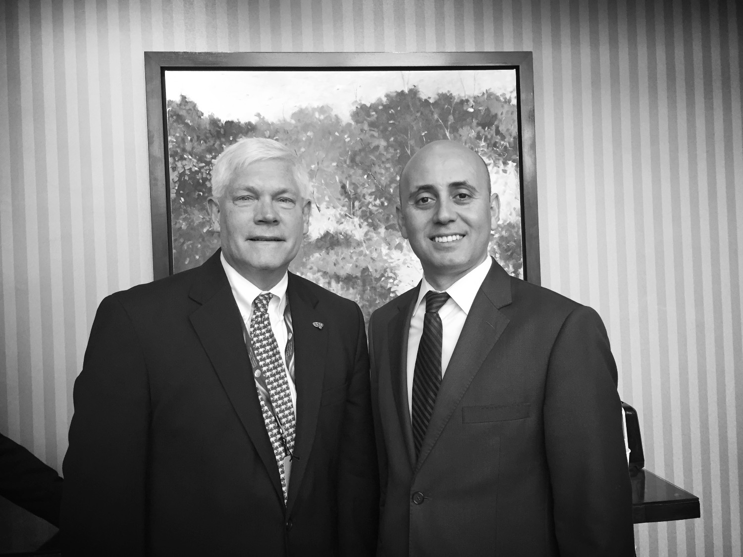 Bilal Eksili with Congressman Pete Sessions
