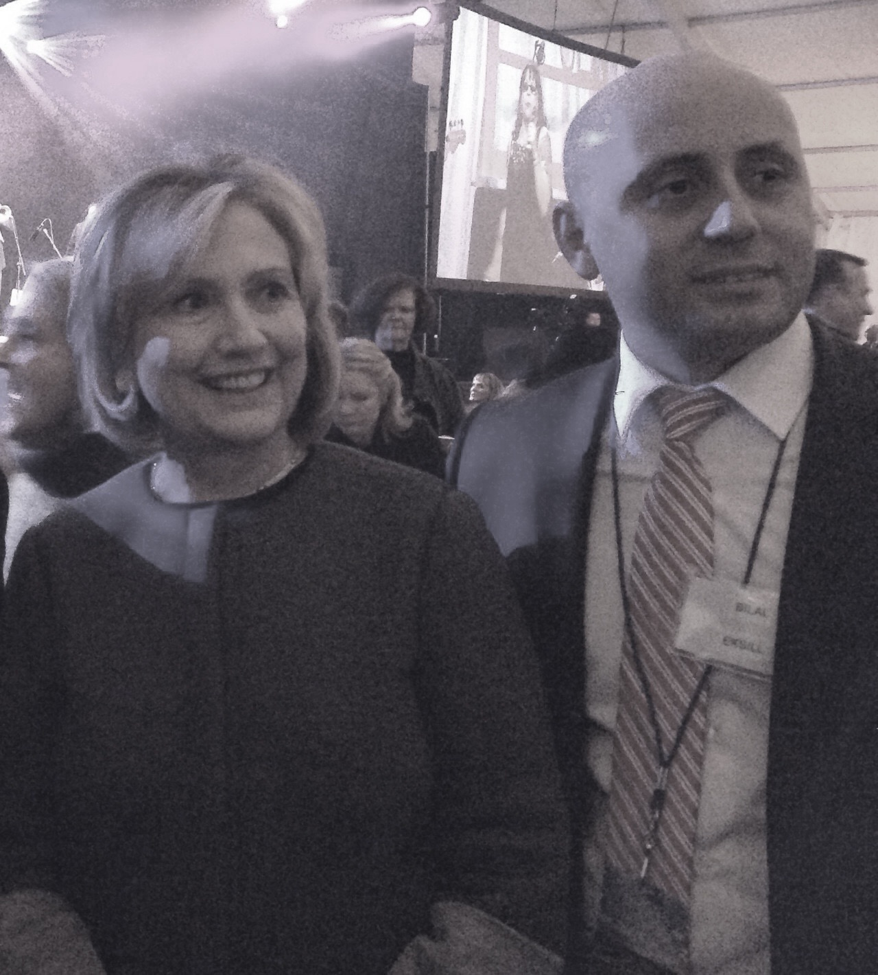 Bilal Eksili with Hillary Clinton