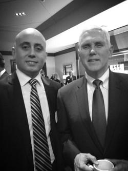 Bilal Eksili with VP Mike Pence