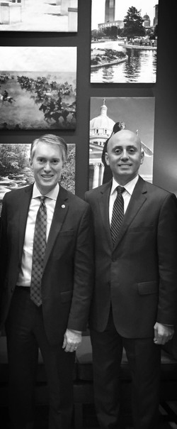 Bilal Eksili with Senator James Lankford