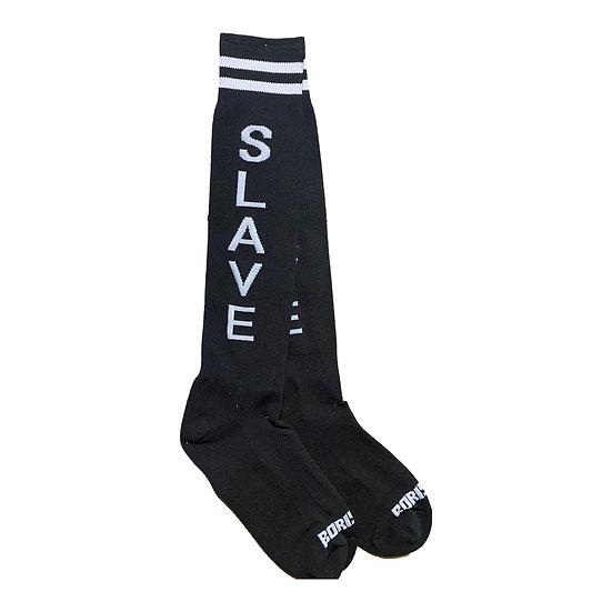 Borisboy Socks Slave - Black (White Stripes)