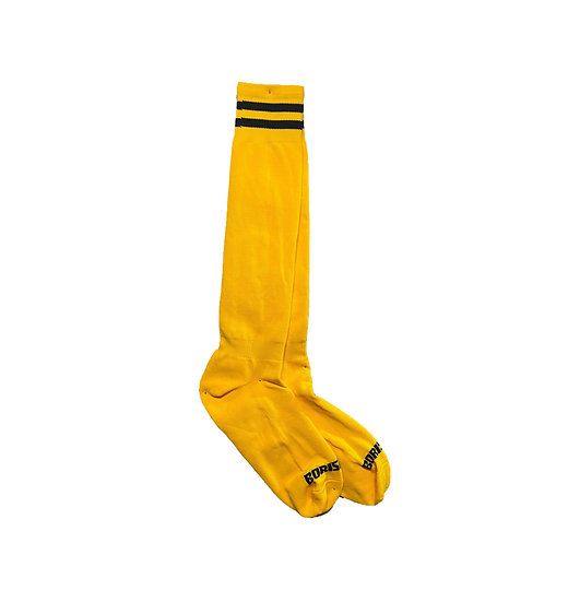 Borisboy Socks - Yellow (Black Stripes)