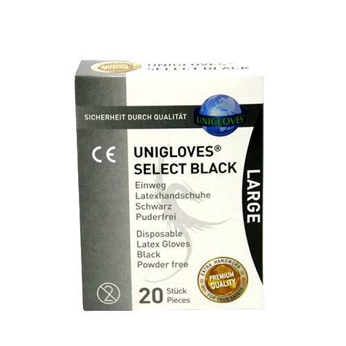 Unigloves Select Black L - 20 pieces
