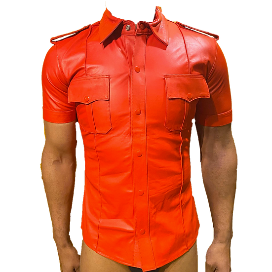 Police Shirt - Red