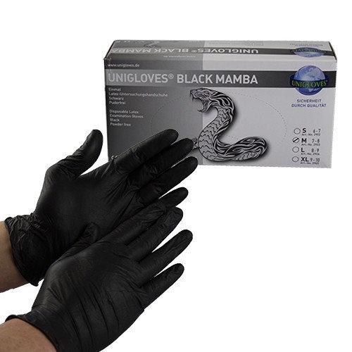 Unigloves Black Mamba M - 100 pieces