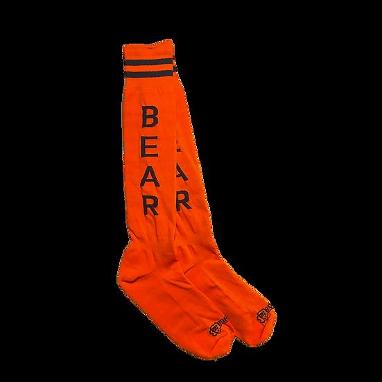Borisboy Socks Bear - Red (Black Stripes)