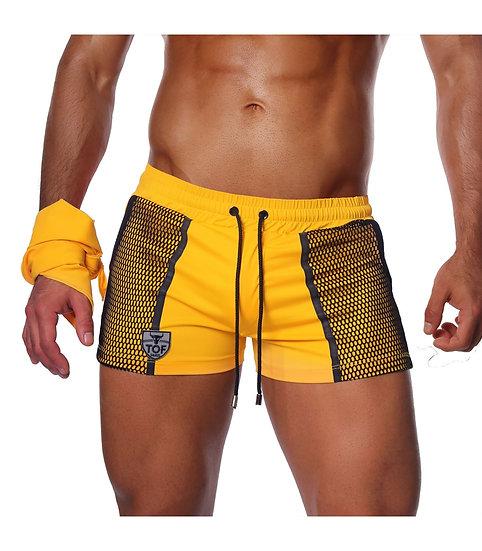 Cruise Swimshorts with Bandana Yellow/Black
