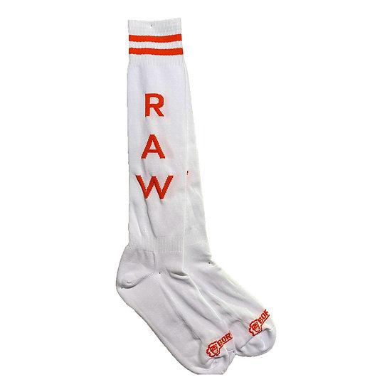Borisboy Socks Raw - White (Red Stripes)