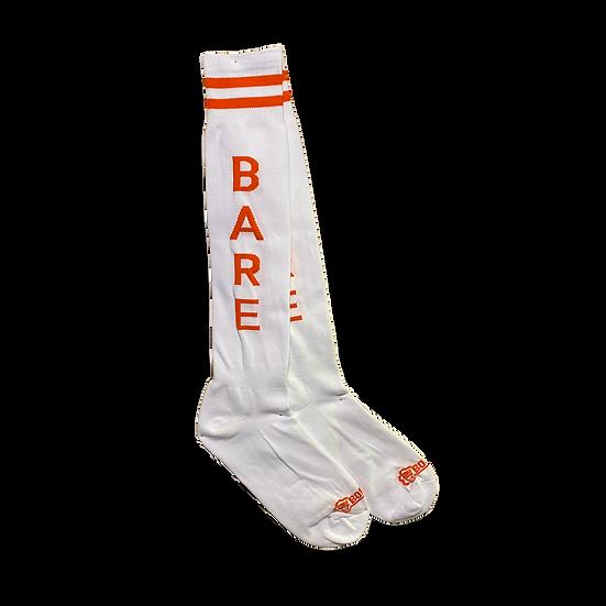Borisboy Socks Bare - White (Red Stripes)