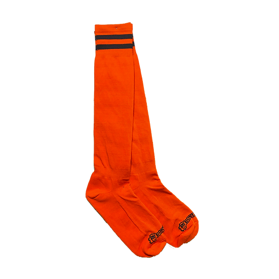 Borisboy Socks - Red (Black Stripes)