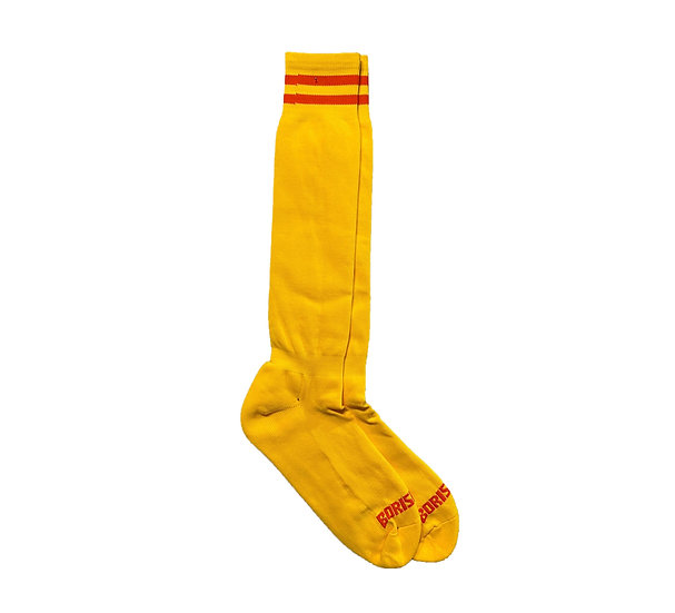 Borisboy Socks - Yellow (Red Stripes)