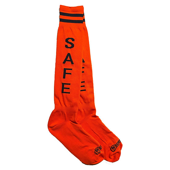 Borisboy Socks Safe - Red (Black Stripes)