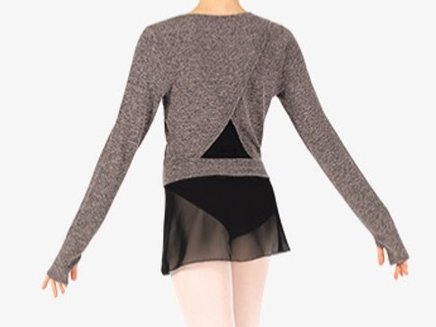 NATALIE Womens Triangle Back Warm Up Sweater