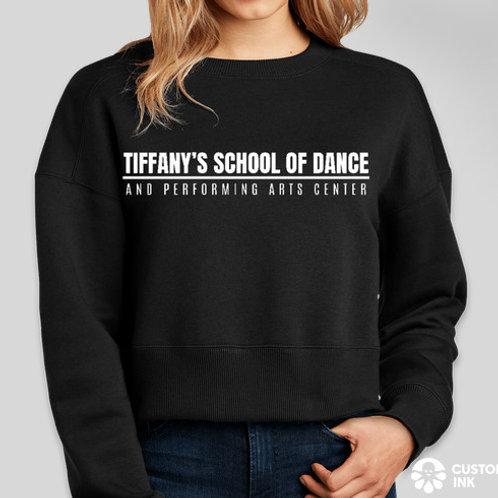 District Women's Perfect Weight Cropped Crewneck Sweatshirt