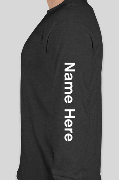 Personalization for Black Long Sleeve T-Shirts