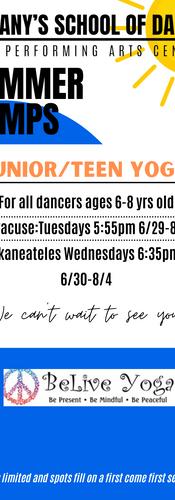 Junior Teen Yoga