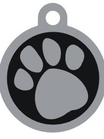 Paw Print Deluxe Enameled Pet Tag