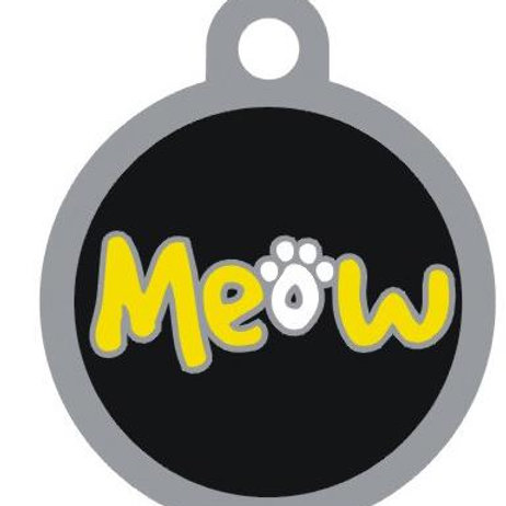 Meow Deluxe Enameled Pet Tag