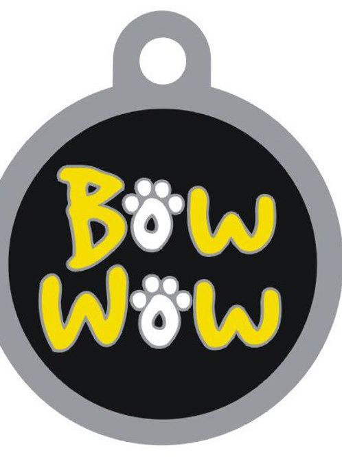 Bow Wow Deluxe Enameled Pet Tag