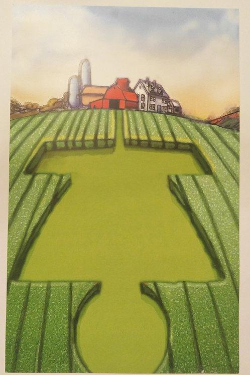 Crop Basket Print - Iowa Worlds