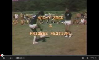 1985 Hacky Sack Frisbee Festival Video at Brown Deer Park in Milwaukee