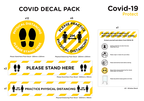 COVID Decal Pack