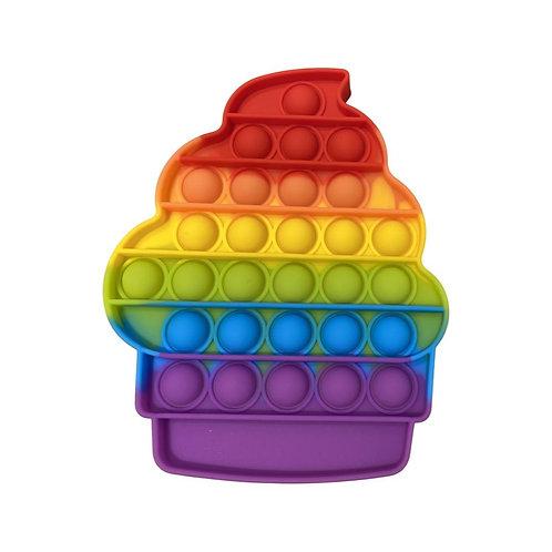 Pop It Rainbow color Cup Cake