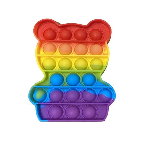 Pop It Rainbow color Bear