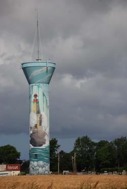 Artistic Water Tower in Fecamp