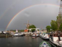 Rainbow over Harderwijk