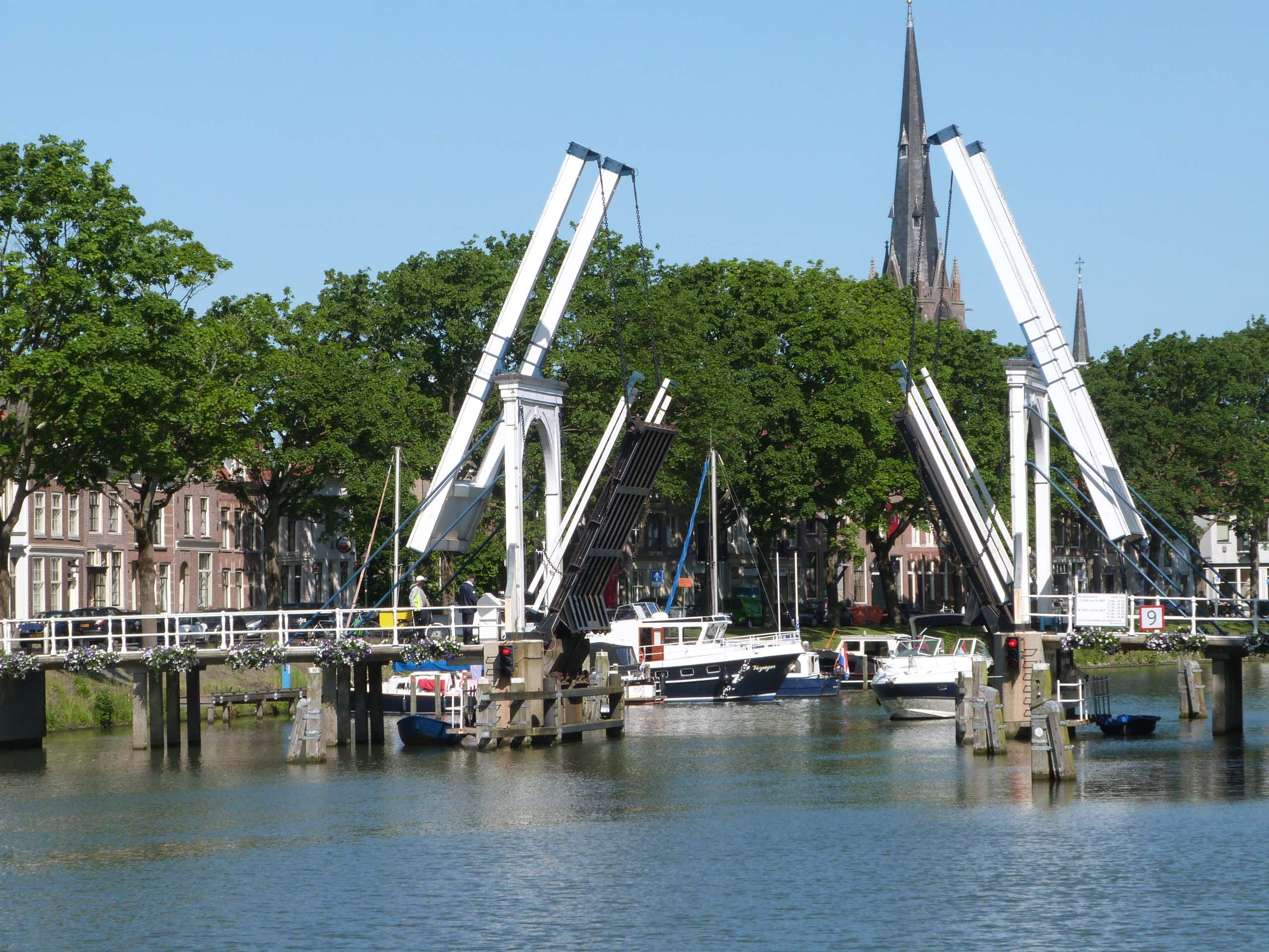 Weesp Lifting Bridge Open