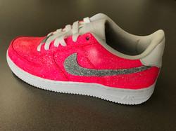 Glitter Pink Splatter